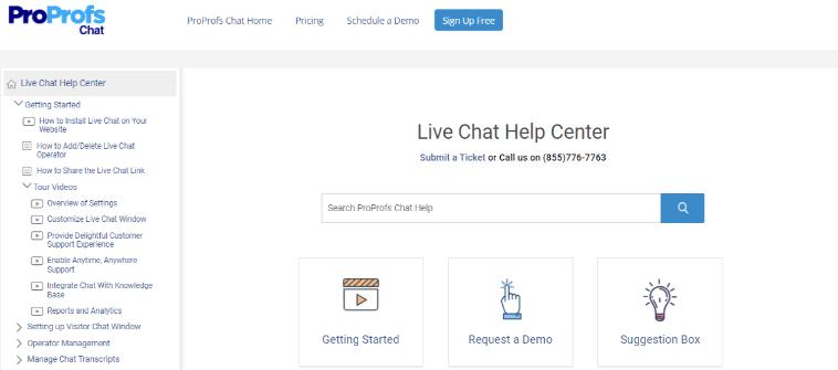 Create a help center to build customer trust