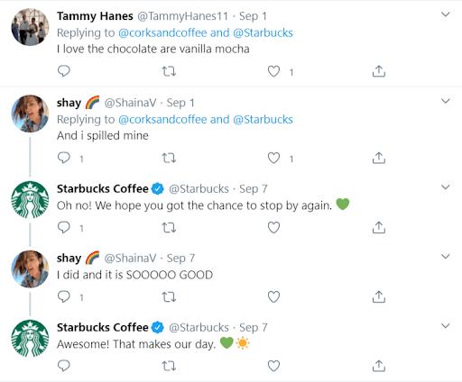 Starbucks social customer service to build trust