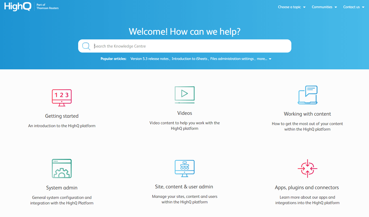 helpq knowledge base example