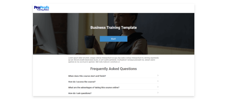 Online Training Course to Reduce Customer Churn